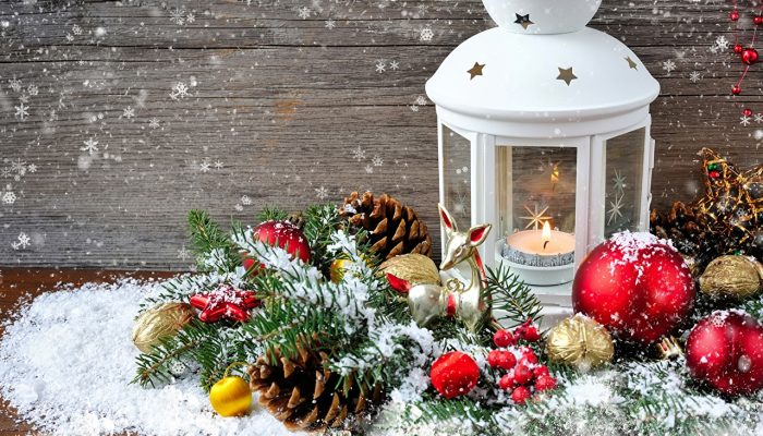 Kerstkaarten met sneeuw